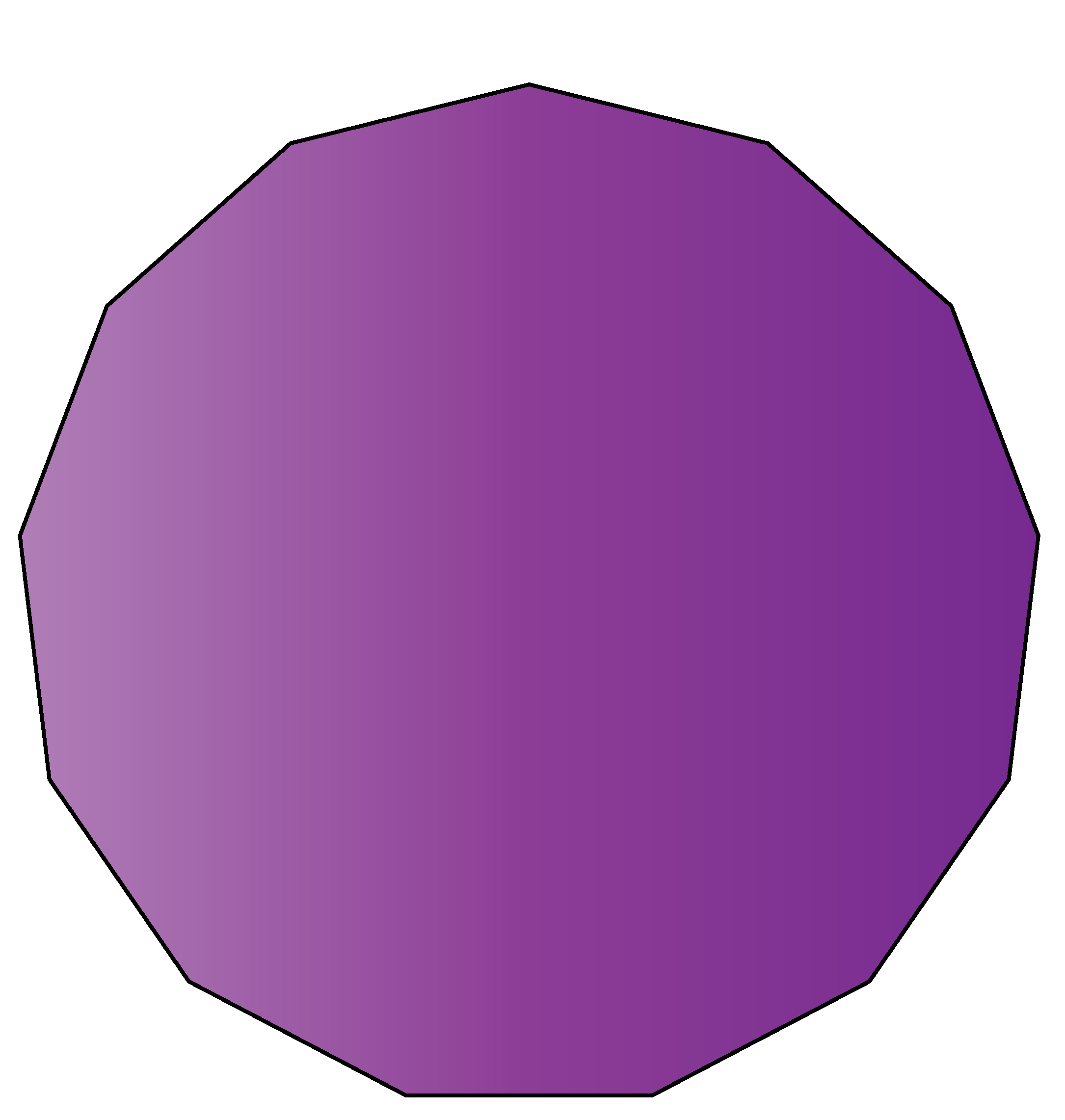 13 sided polygon