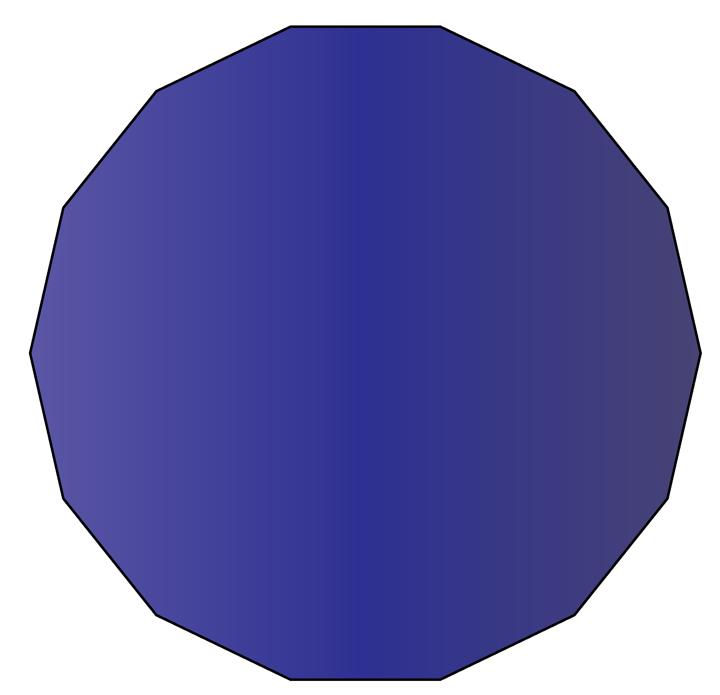 14 sided polygon