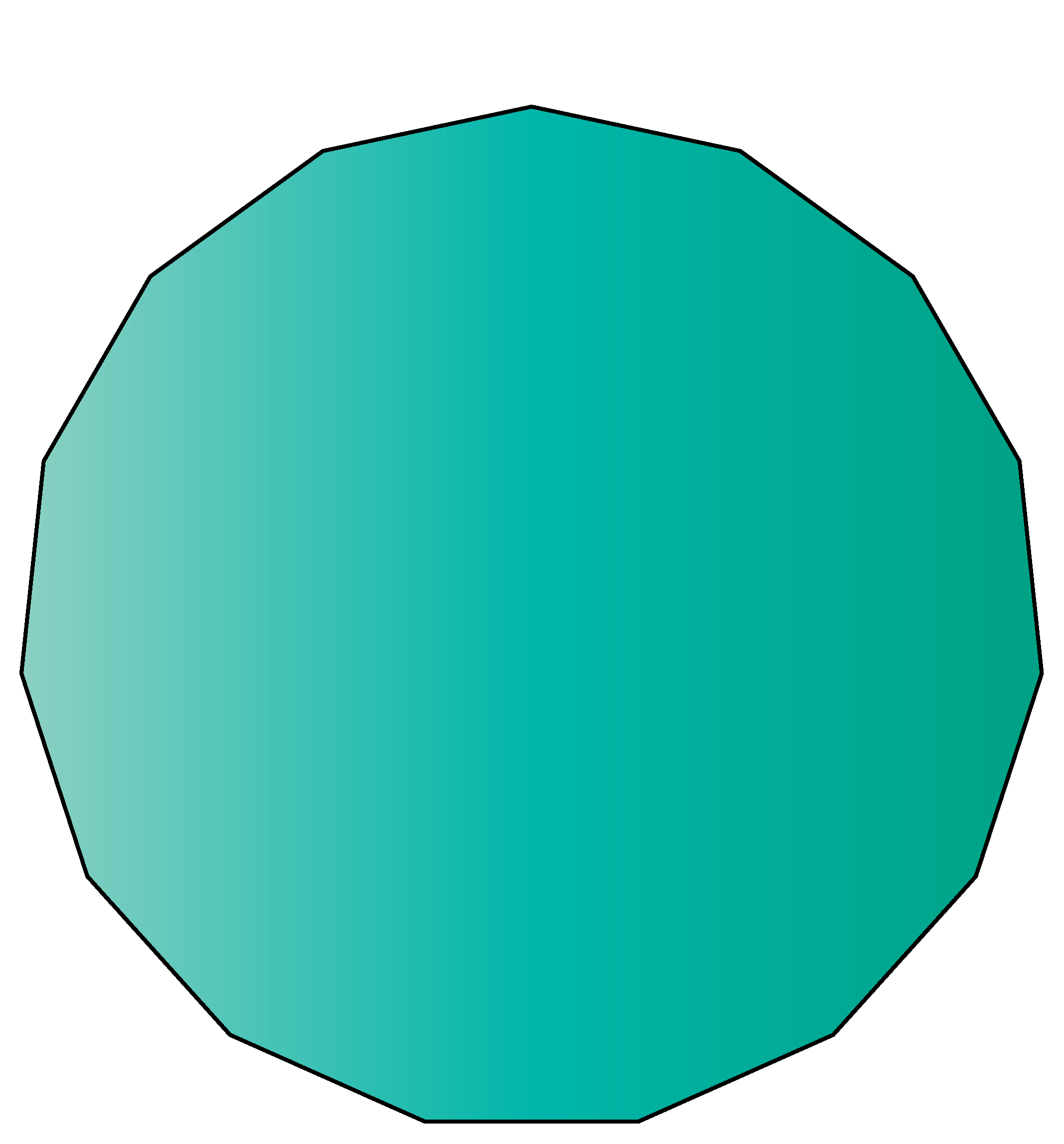 15 sided polygon