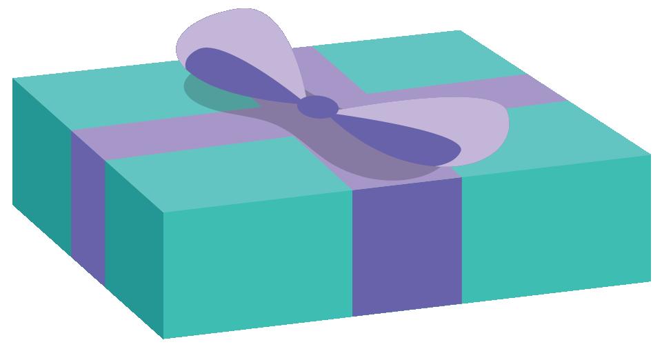 A rectangular gift box.