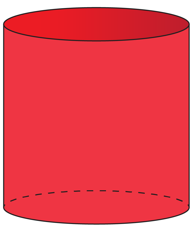 cylinder is a 3d shape