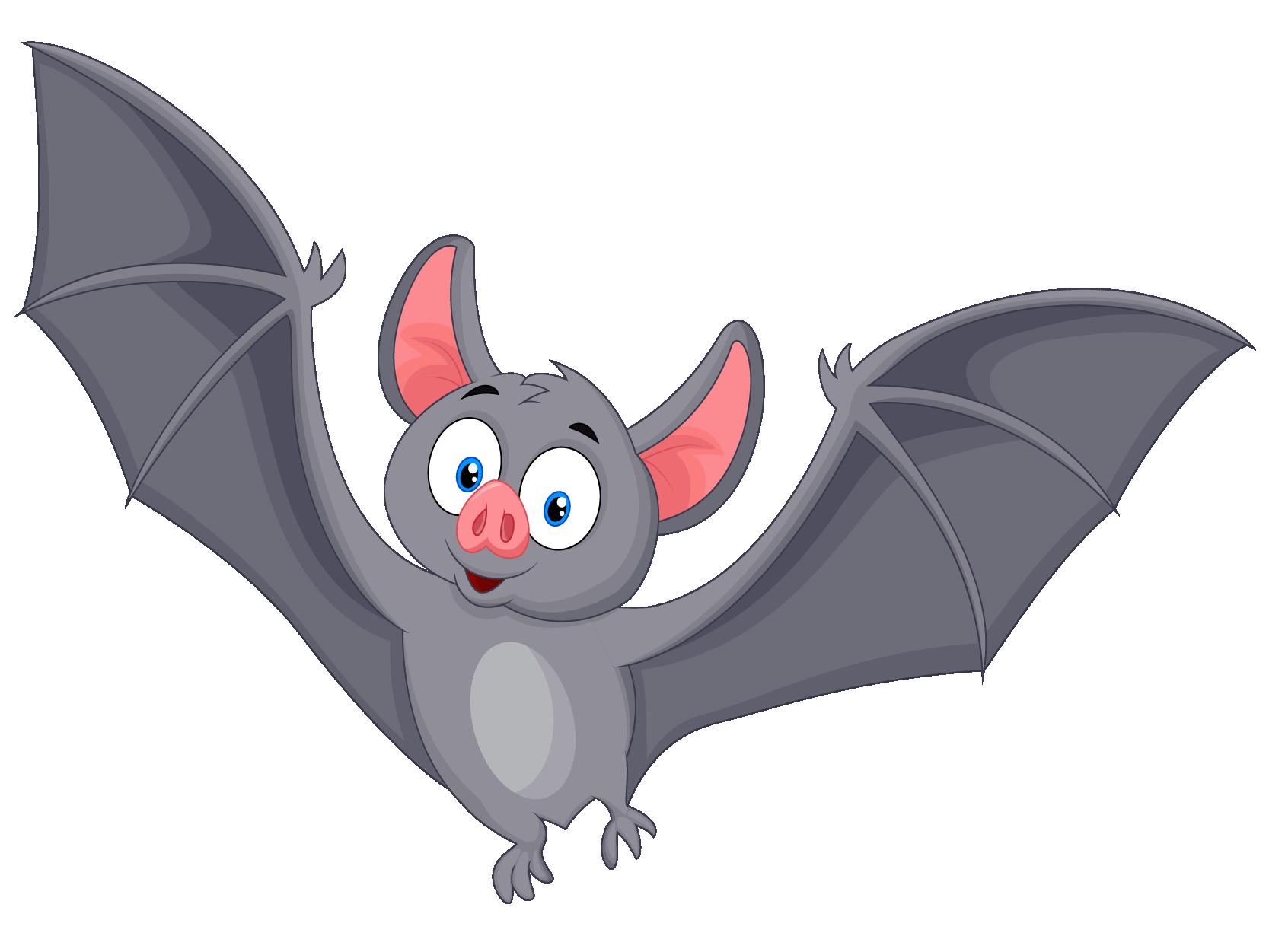 Cute bat flying gray funny creature cartoon Vector Image