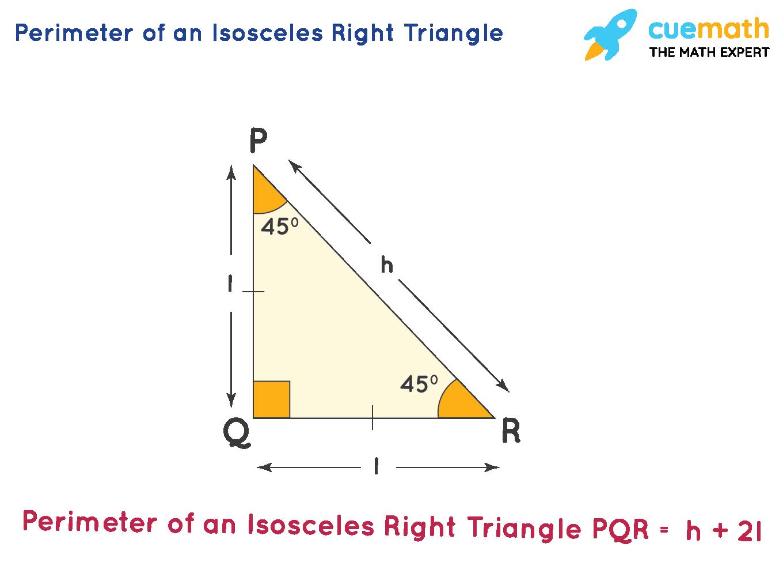 Perimeter of an Isosceles Right Triangle