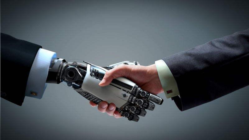 Robot hand as an example of automated jobs of future