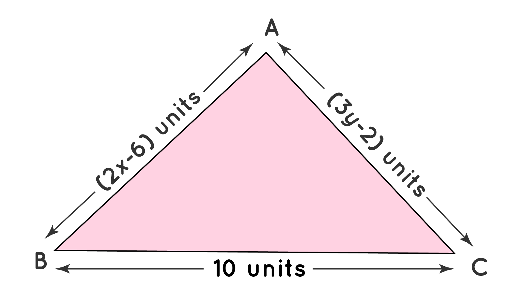 Dimensionsof Equilateral Triangle