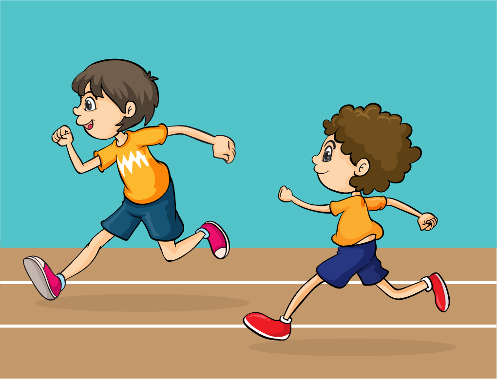 Child running in race