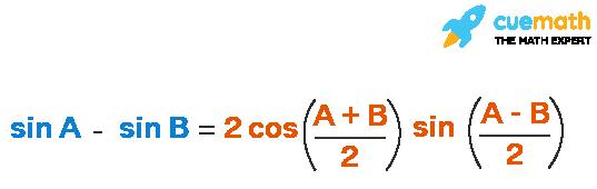 expansion of sin A - sin B formula