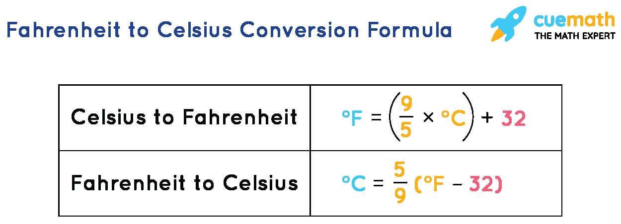 Fahrenheit to Celsius Formula