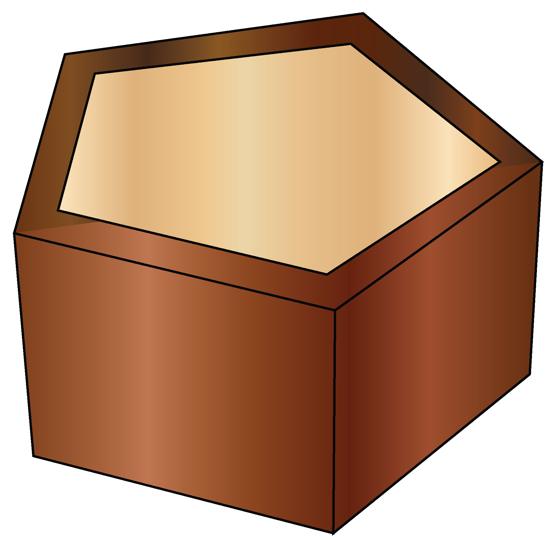 Example of a pentagonal shape