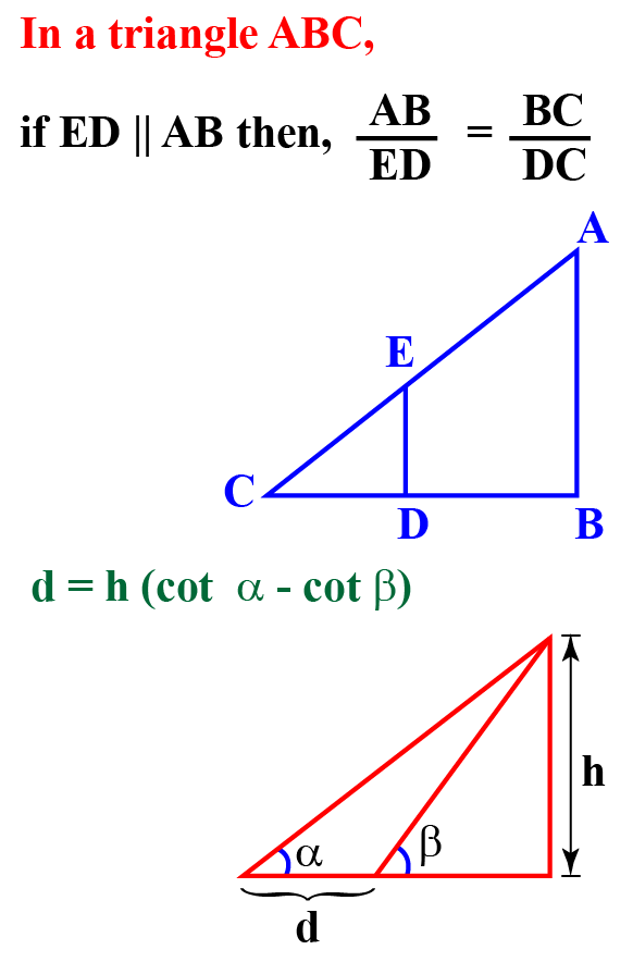 Hight and distance formula