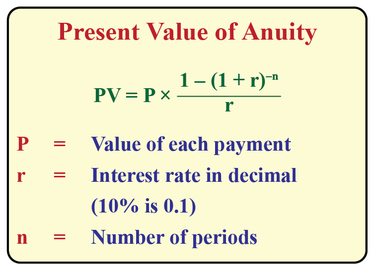 present value annuity
