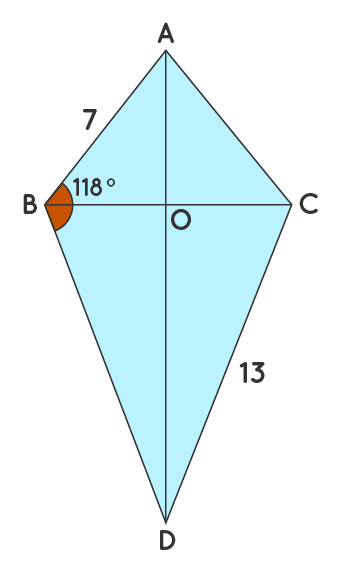 Properties of a Kite Solved Example 1