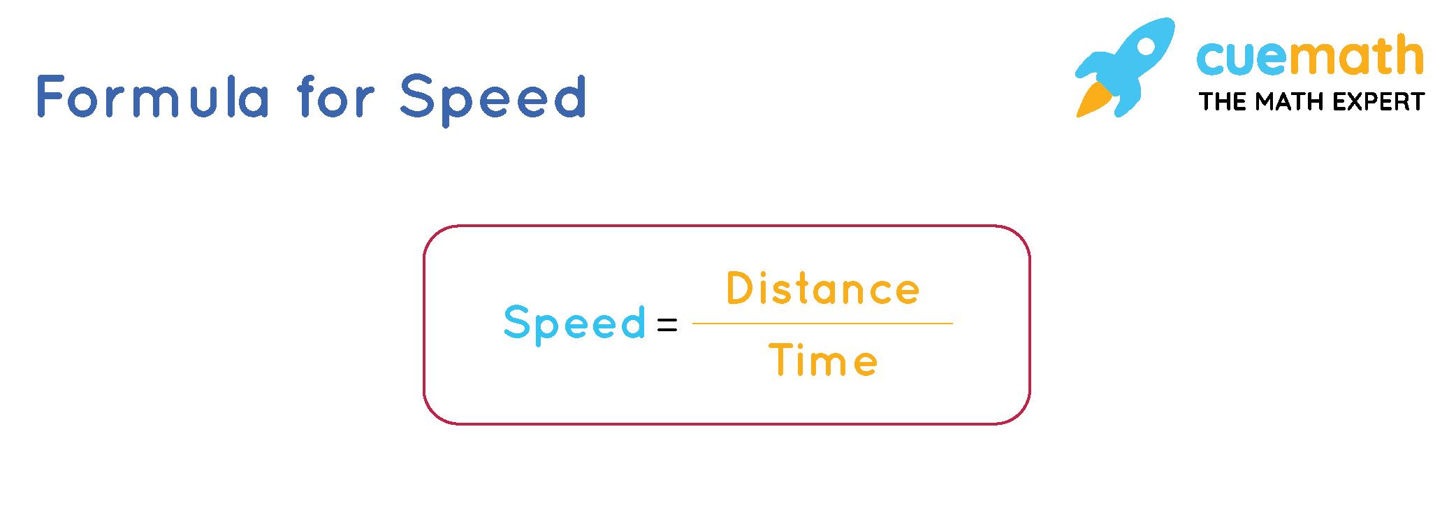 The speed formula