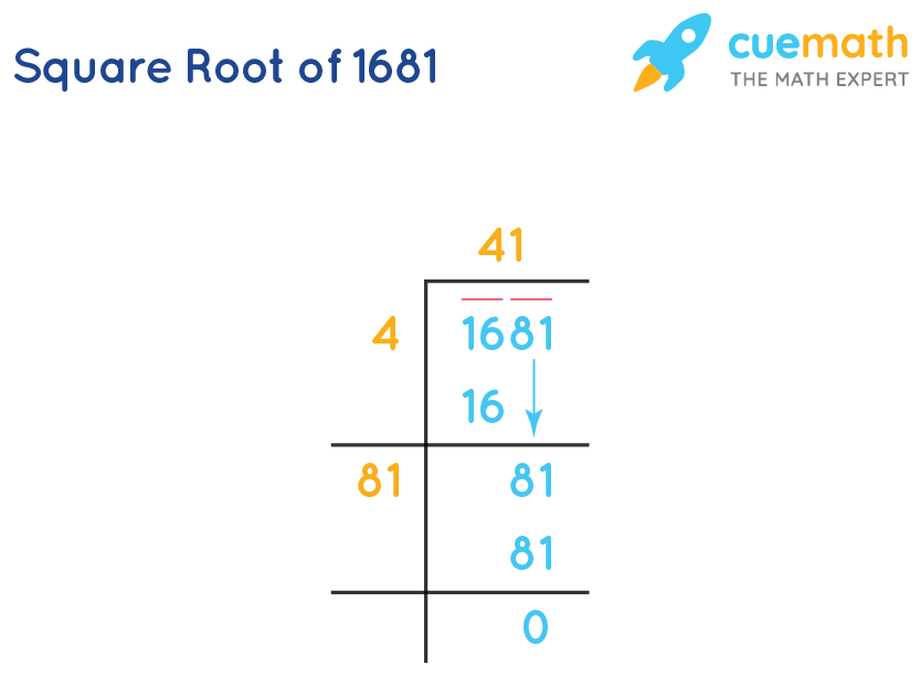 Square root of 1681