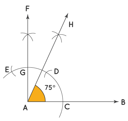 Constructing an Angle of 75 Degrees