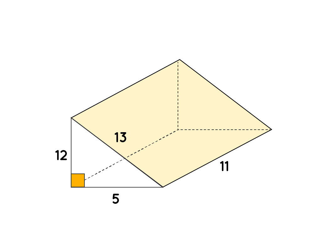 Example of Surface Area of a Right Triangular Prism