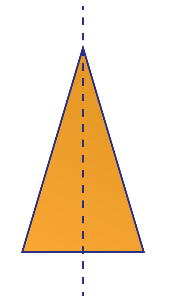 Lines of Symmetry is explained using a triangle.