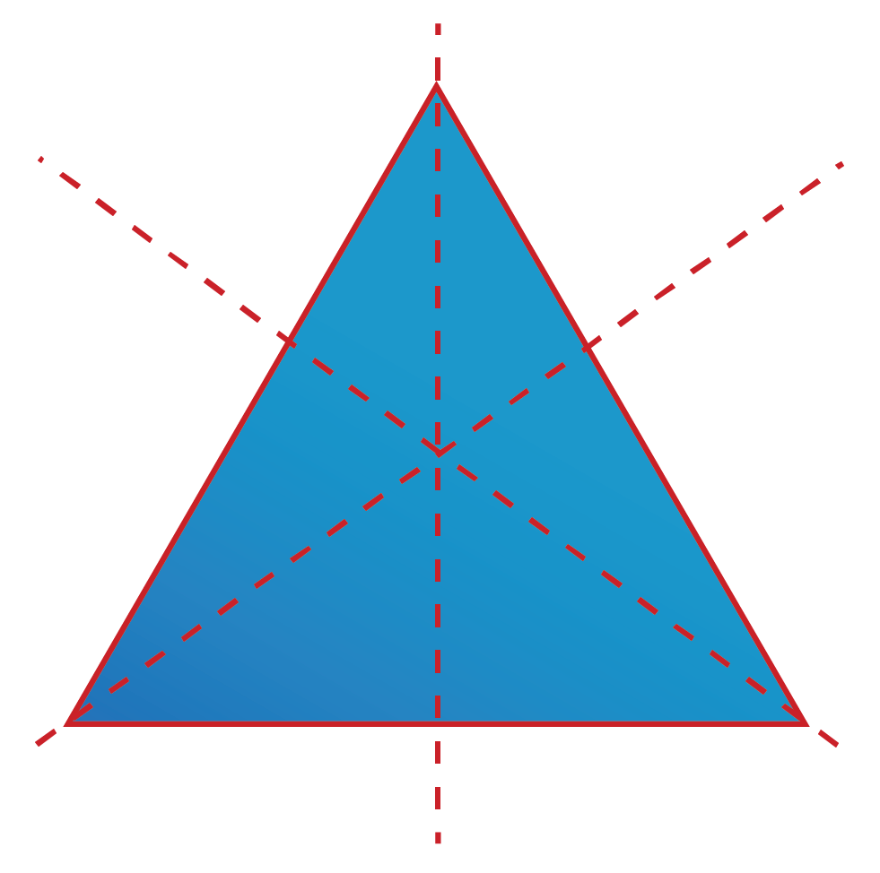 Lines of Symmetry is explained using an equilateral triangle.