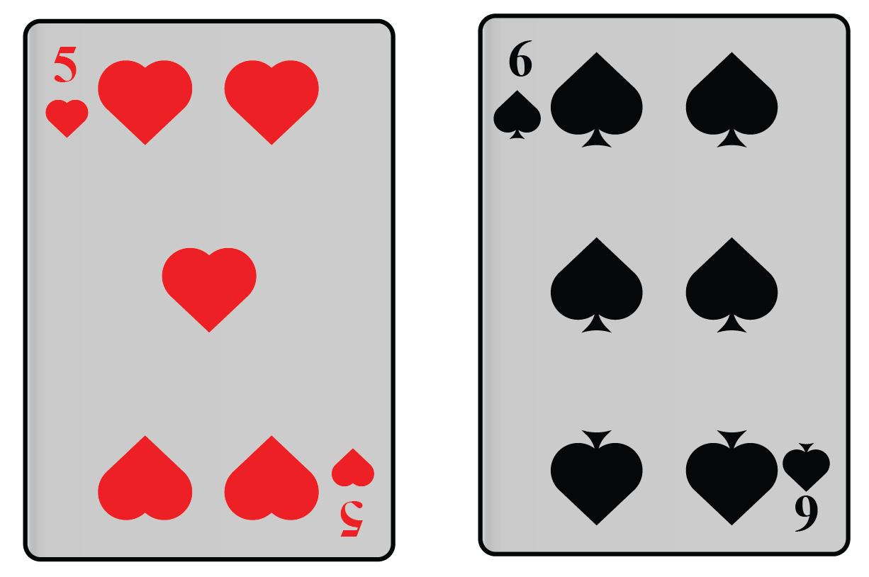 Playing cards are an example of symmetrical objects.