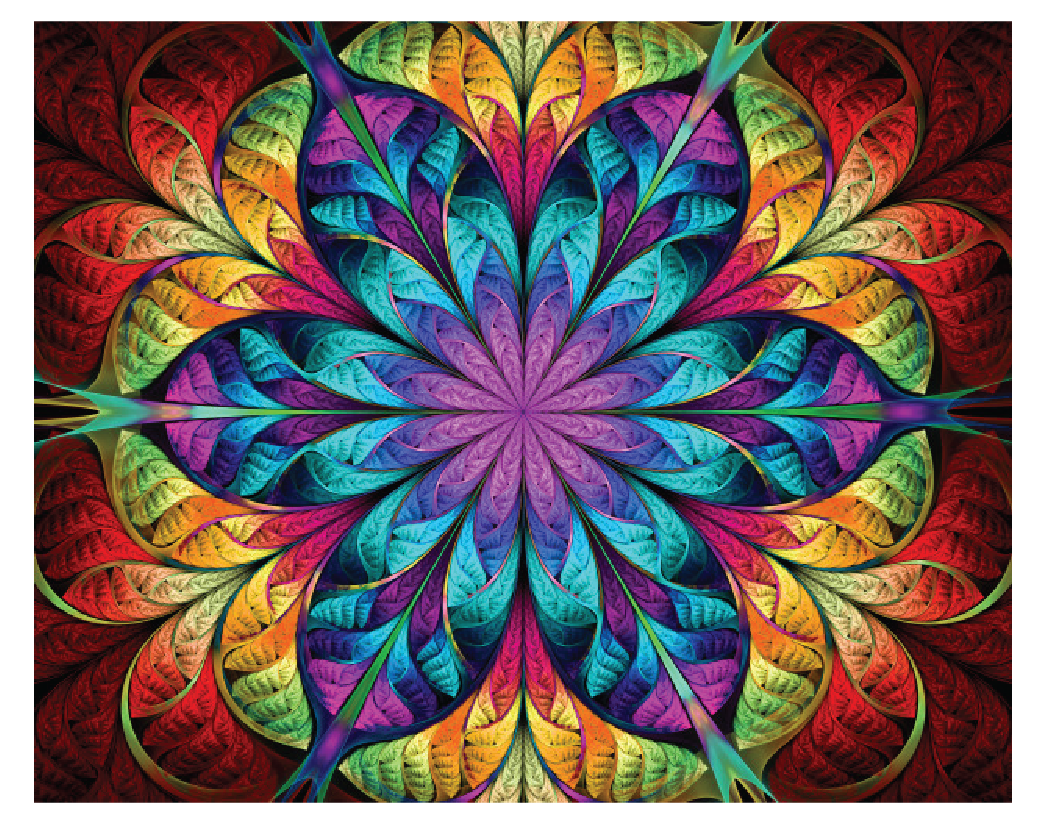 Symmetry in our daily life - Kaleidoscopes produce images that have multiple lines of symmetry.