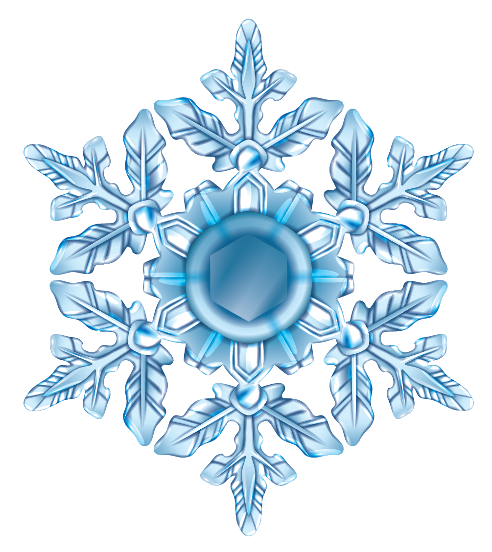 Symmetry in our daily life - A snowflake is symmetrical.