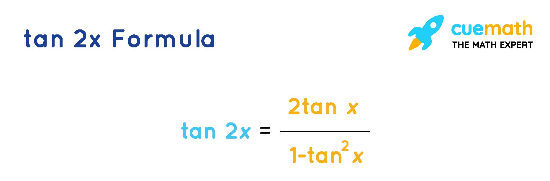 tan2x formula in terms of tan
