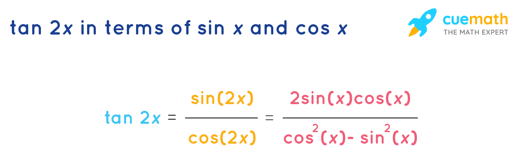 tan2x formula in terms of sin and cos