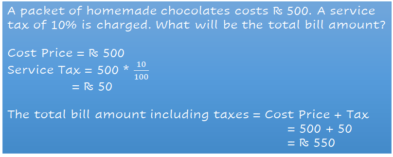 example of taxes along with calculation