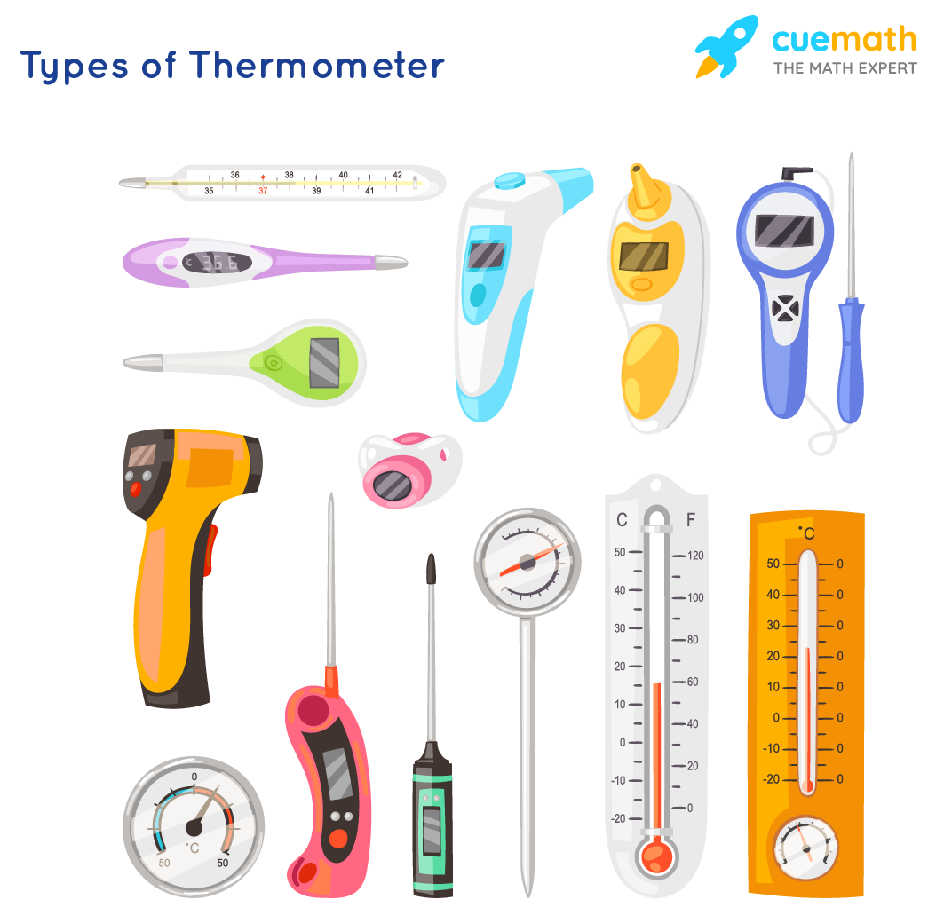 Types of thermometer for measuring temperature