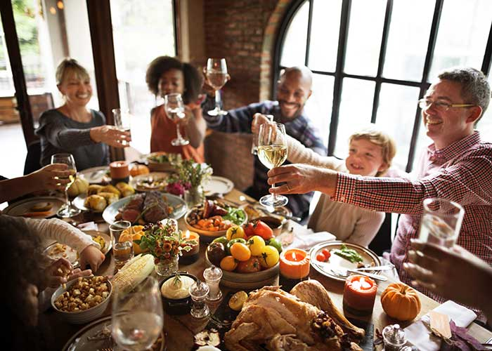 Celebrate thanksgiving being grateful to your family