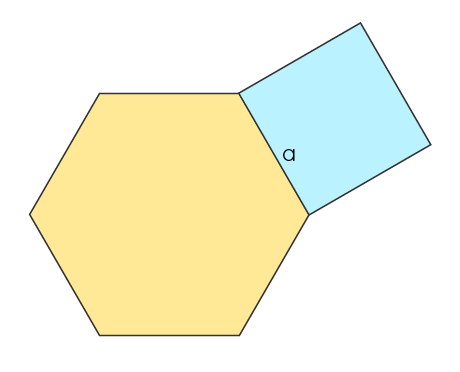 Hexagon and square