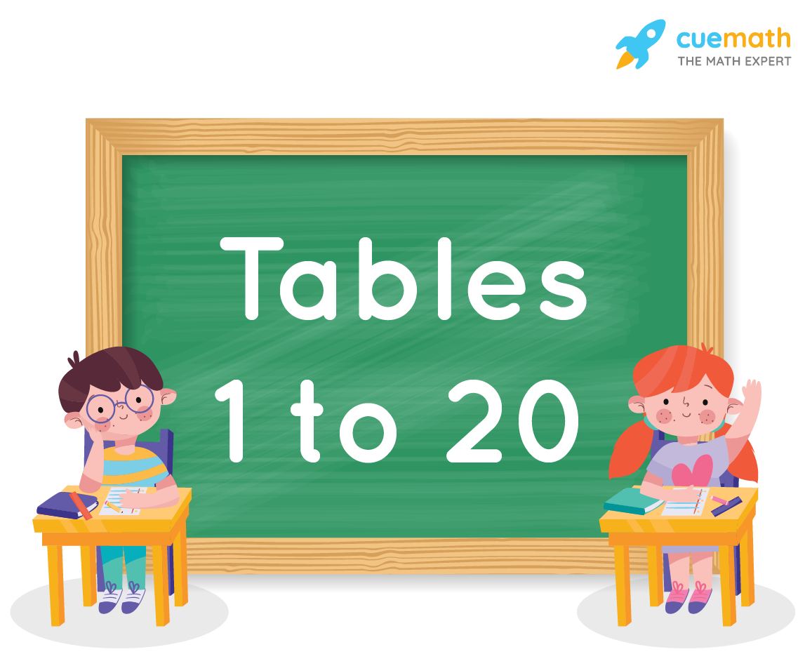 tables from 1 to 20