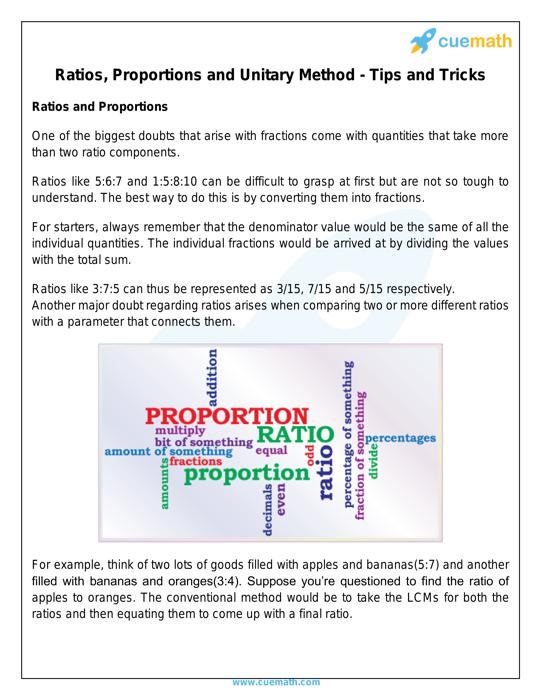 Ratio, Proportion, Percentages Tricks   Ratio, Proportion