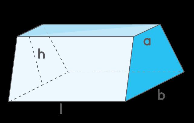 volume of a trapezoidal prism