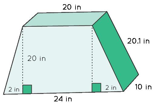 Trapezoidal Prism: Example 1