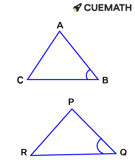 corresponding angles must be the same