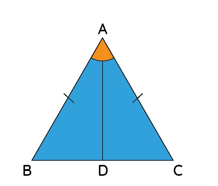 SAS Rule in an Isosceles Triangle
