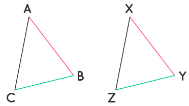 Triangles ABC and XYZ