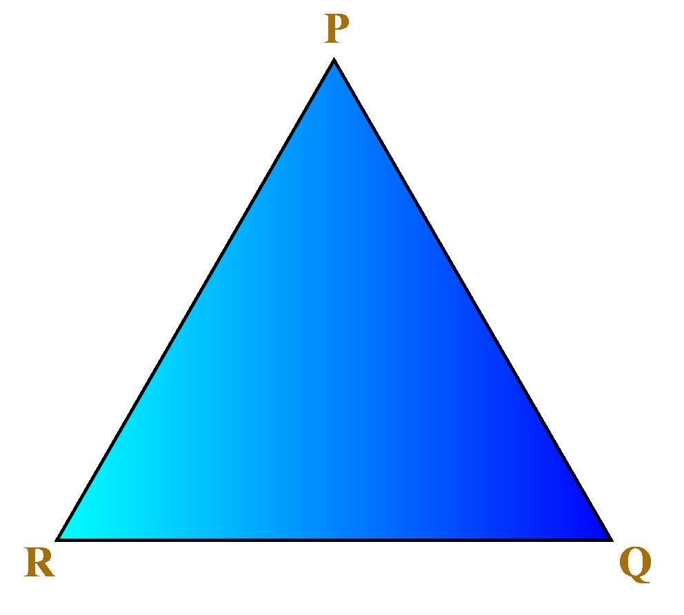 A triangle PQR
