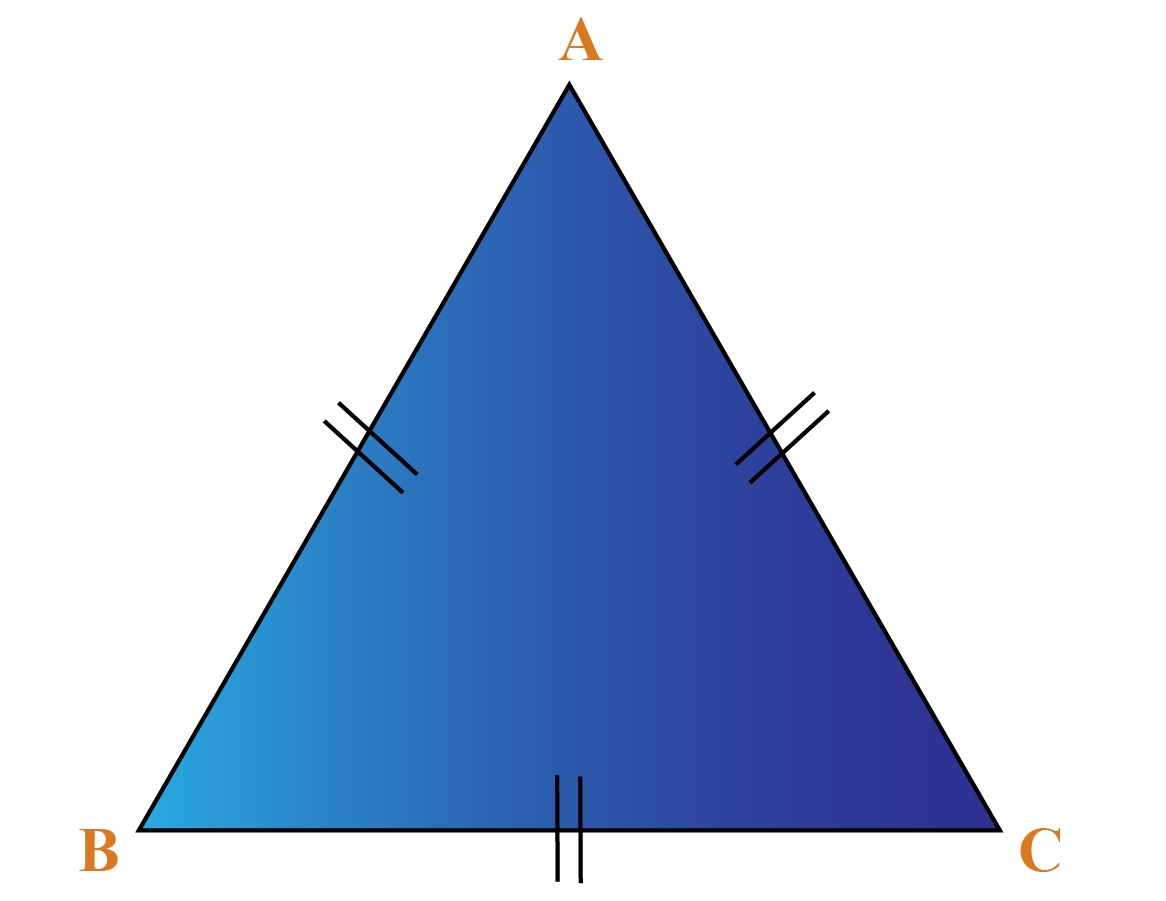 Equilateral triangle ABC has all sides equal
