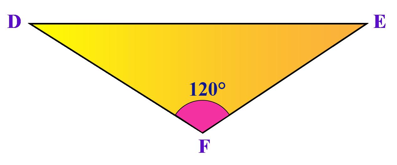 Obtuse-angled triangle DFE