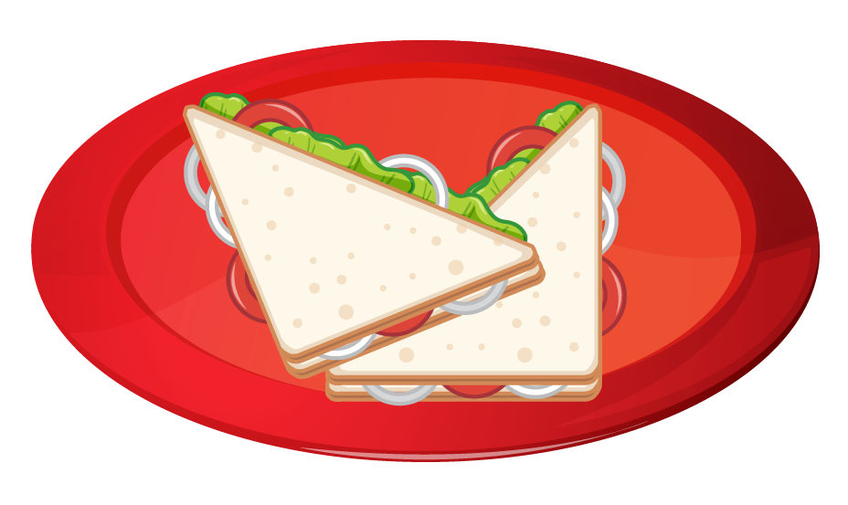 Sandwich which is triangular in shape
