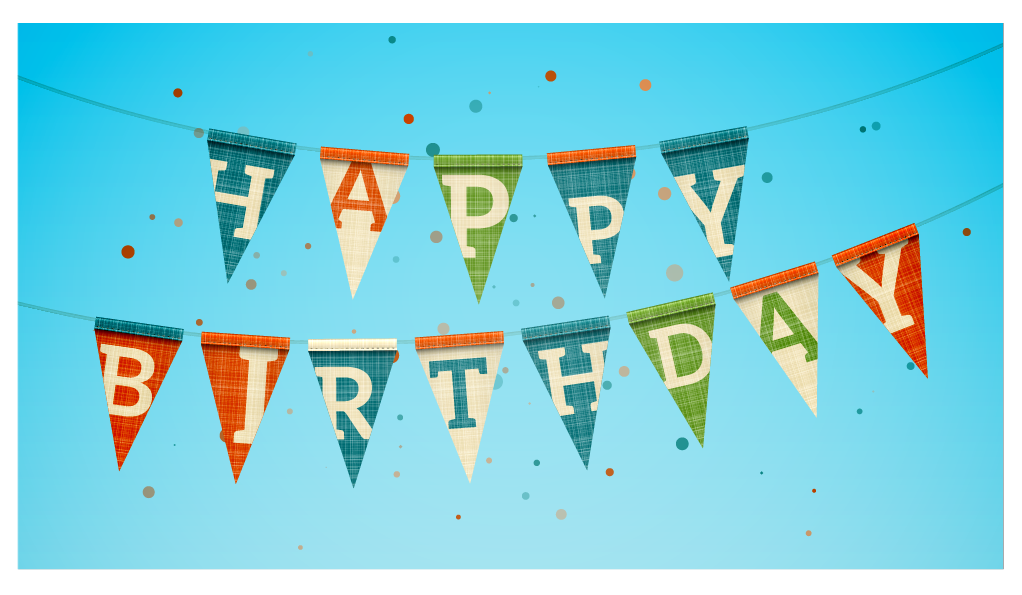 Birthday banners are examples of a triangle shape
