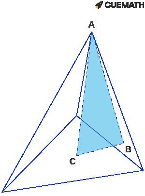 Triangular-based pyramid with base 12cm