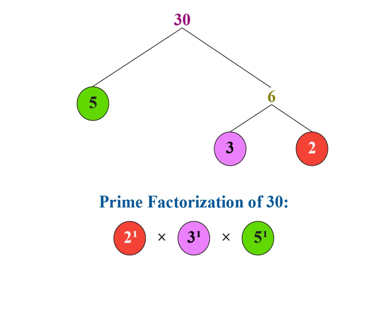 prime factorization, lowest common multiple, prime factorization chart