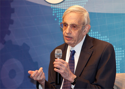 American Mathematician - John Nash adressing a meeting
