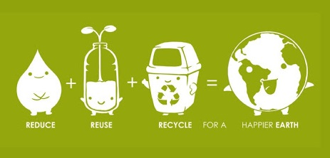 Reduce, reuse and recycle for a happier earth