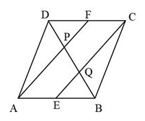 In a parallelogram ABCD, E and F are the mid-points of sides AB and CD respectively (see Fig.8.31). Show that the line segments AF and EC trisect the diagonal BD
