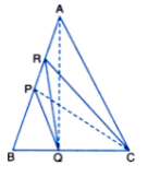 P and Q are respectively the mid-points of sides AB and BC of a triangle ABC and R is the mid-point of AP, show that i) ar (PRQ) = 1/2 ar (ARC)  ii) ar (RQC) = 3/8 ar (ABC) iii) ar (PBQ) = ar (ARC)