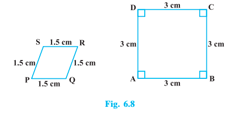 State whether the following quadrilaterals are similar or not: